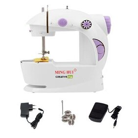Creative Via With Foot Pedal Portable And Compact Mini Electric Sewing Machine
