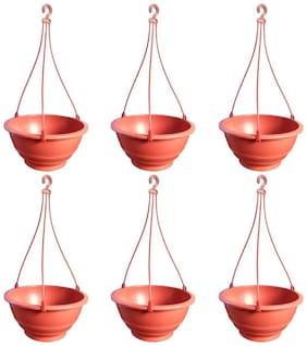 Crete Brown Hanging Planter - Set of 6