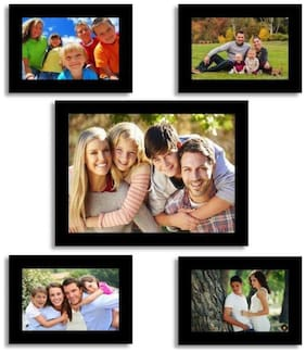 Crete Wood Brown Collage picture frame ( Set of 5 )