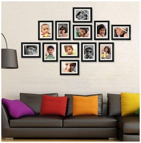 Crete Wood Brown Collage picture frame ( Set of 12 )