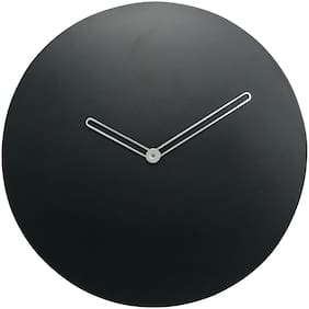 CRIMSON KNOT Black Wall clock