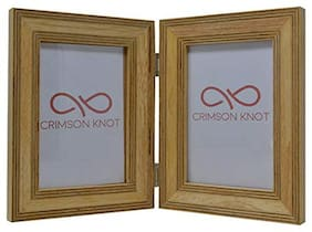 Crimson Knot Designer Photo Frame Layered Birch Wood Angled