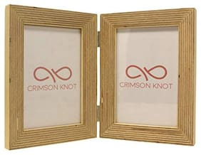 Crimson Knot Designer Photo Frame Birch Wood  Angled
