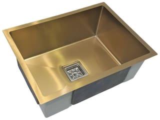"CROCODILE (24"" x 18"" x 10"") 304 Grade Stainless Steel Single Bowl Sink Golden MATT Finish"