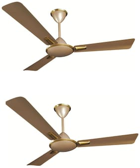 Crompton AURA PRIME 1200 mm Ceiling Fan - Husky Gold , Pack of 2