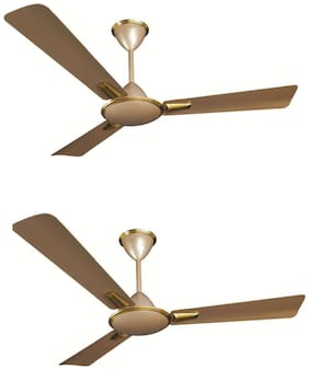 Crompton Aura Prime Anti Dust 1200MM Ceiling Fan (Husky Gold) Pack of 2