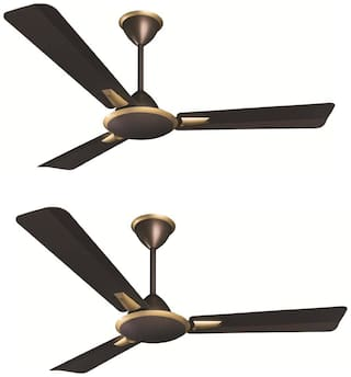 Crompton Aura Prime 1200 mm Ceiling Fan - Chicory , Pack of 2
