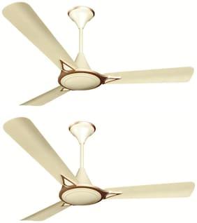 Crompton Avancer Prime Anti Dust 1200MM Ceiling Fan (Silky Silver) Pack of 2