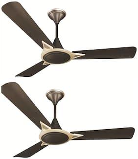 Crompton Avancer Prime Anti Dust 1200 mm Premium Ceiling Fan ( Brown ,Pack of 2 )
