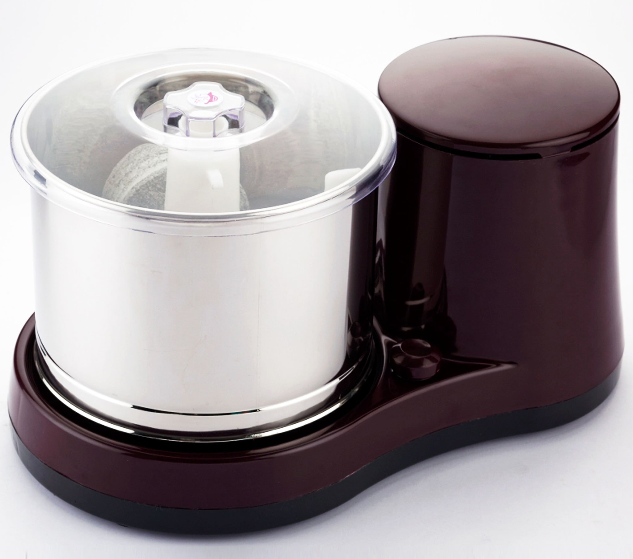 Crompton Duro Plus 160-Watt Table Top Wet Grinder with Coconut Scrapper and Atta Kneader (Cherry Brown)