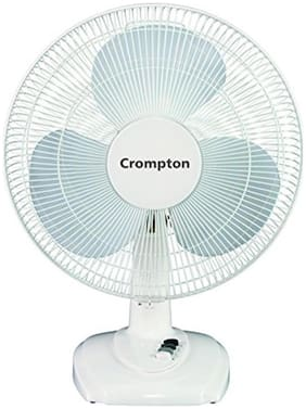 Crompton High Flo Eva 400 mm Standard Table Fan ( White , Pack of 1 )