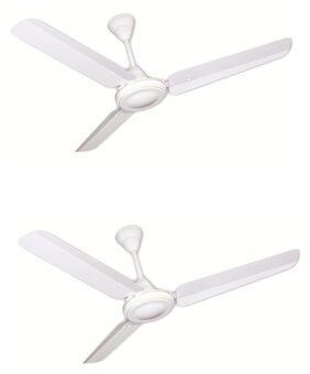 Crompton HS Plus 5 Star 1200MM Ceiling Fan (Opal White) Pack of 2