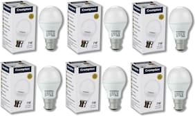 Crompton 7 W B22 LED Bulb, Cool Day Light (Pack of 6)