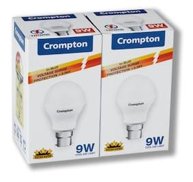 Crompton 9 Watt B22 LED Bulb, Cool Day Light (Pack of 2)