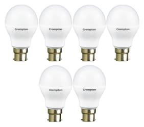 Crompton 12 W B22 LED Bulb, Cool Day Light (Pack of 6)