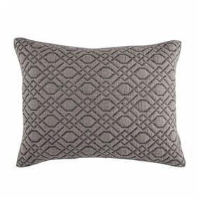 Croscill Standard Quilted Sham Alana/Grey 100% Polyester