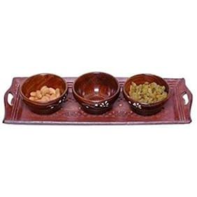 CRUZ INTERNATIONAL Bowl Tray Serving Set
