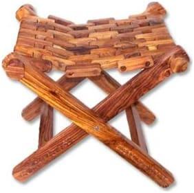 CRUZ INTERNATIONAL Wooden Foldable   Stool