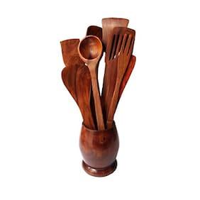 CRUZ INTERNATIONAL Kitchen Spoons with Holder set of 12