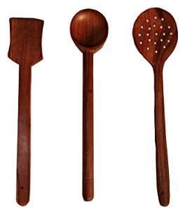 CRUZ INTERNATIONAL Wooden Ladle (Pack of 3)