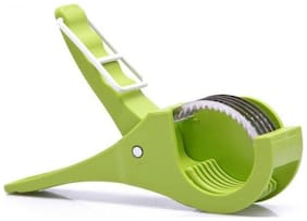 Crystal Digital 2 in 1 Stainless Steel 5 Blade Vegetable Cutter with Peeler, (Colour May Vary)