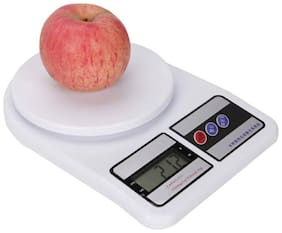 CRYSTAL DIGITAL Kitchen Digital Weighing Scale 103 Weight Measure Liquids Flour,White Weighing Scale  (White)