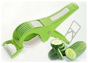 crystal digital Extra Sharp Stainless Steel Multi Cutter and Peeler for Vegetable and Fruit (Colour May Vary)