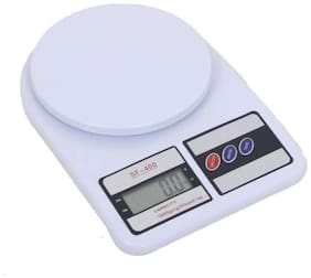 CRYSTAL DIGITAL Kitchen Digital Weighing Scale 148 Weight Measure Liquids Flour,White Weighing Scale  (White)