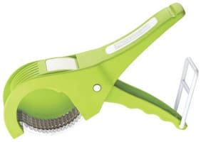 Crystal Digital Steel Sharp Stainless 5 Blade Vegetable Cutter with Peeler 2 in 1 (Colour May Vary)
