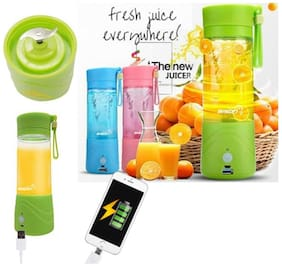 TSV Multifunction 380ml Mini USB Electric Fruit Juicer cup Rechargeable Blender Drink (Green)