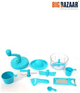 Crystal Dual Speed Mini Food Processor 7 in 1 (Blue)