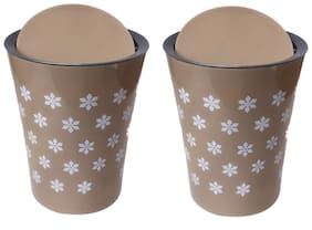 CSM Table Dustbin Desk Dustbin- Set of 2 (Color May Vary)