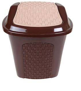 CSM Table Dustbin Desk Dustin With Lid (Color May Vary)