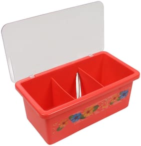 Cube 3 Multi Utility Serving Box Cup Tray Serving Set (Multi Color) 1Pc
