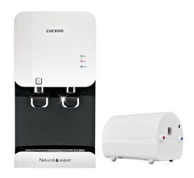 CUCKOO CP-FR601HW/WHCKIN 5.2 Ltr RO+UV Water Purifier (White) + Booster Pump (White)