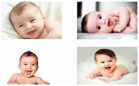 Cute Baby Combo Poster Set of 4 Poster