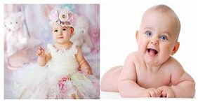 Cute Baby Combo Poster Set of 2 Poster