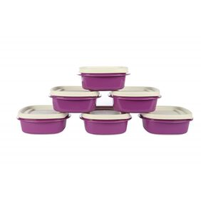 Cutting Edge Snap Tight Air Tight Storage Containers (6 Pcs)  (Purple) (Net: 6000 Ml)