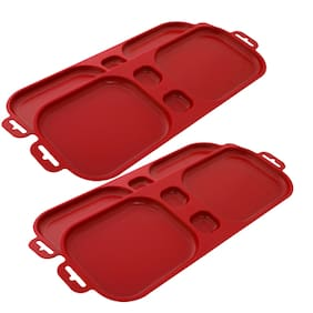 Cutting Edge Serve And Dip Red Snack Trays - Set Of 2 (Buy 1 Get 1 Free)