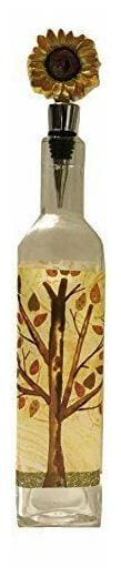 Cypress Warmth of Home Tree Sunflower Glass Oil Bottle