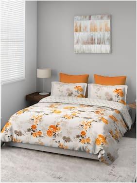 D'Decor Live Beautiful Cotton Floral Double Size Bedsheet 136 TC ( 1 Bedsheet With 2 Pillow Covers , Multi )