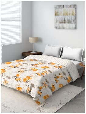 D'Decor Live Beautiful Floral Poly Cotton Queen Comforter Pack of 1