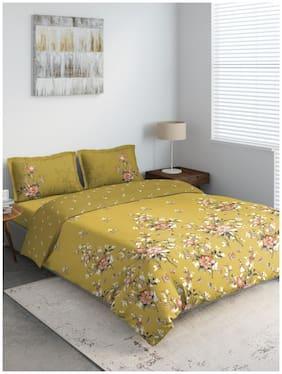 D'Decor Live Beautiful Polyester Geometric Double Size Bedding Set