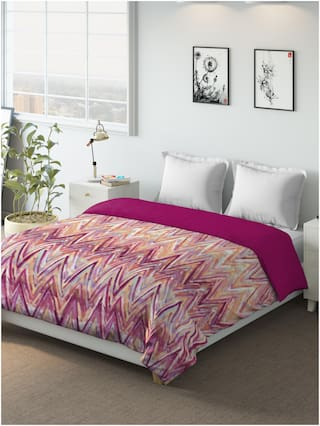 D'Decor Live Beautiful Geometric Poly Cotton Queen Dohar Pack of 1