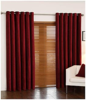 D Decor rich look polyester curtain set of 2 (exclusive)
