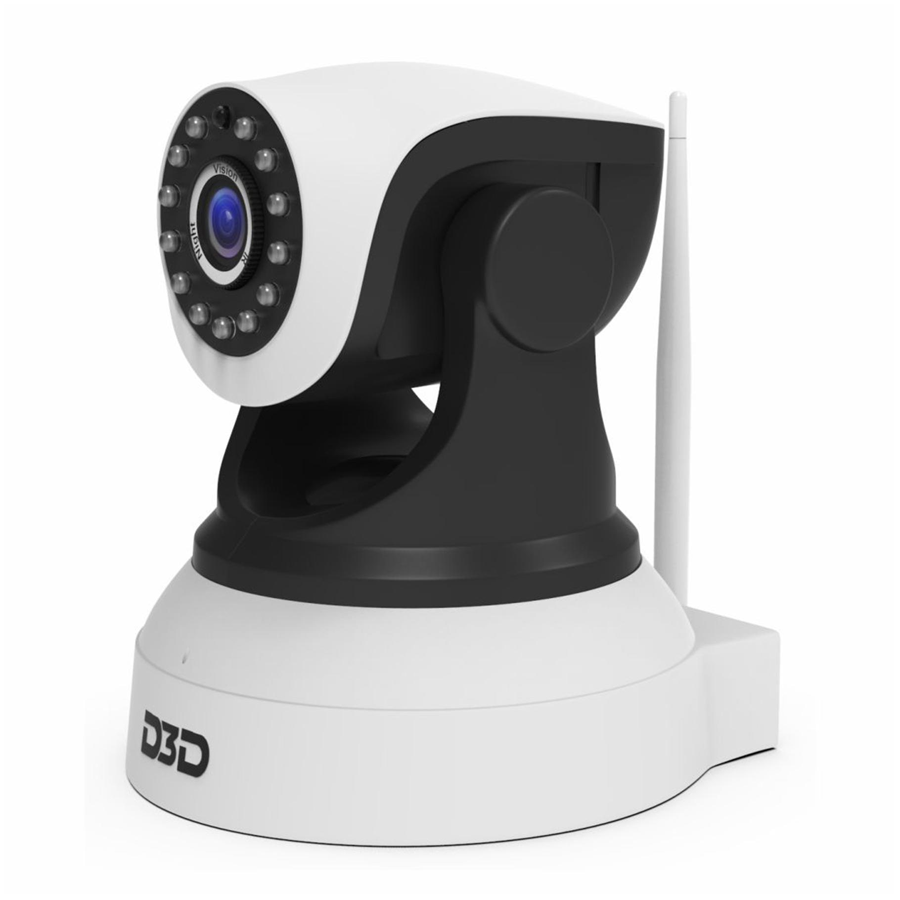 D3D D8809 Wireless HD IP Wifi CCTV Indoor Security Camera   Black   White  Support Upto 128  GB Micro SD Card  by D3D Security