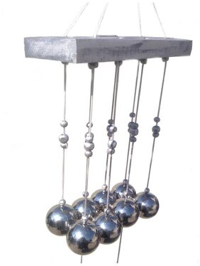 Discount4product Wooden Silver Wind Chimes ( 1 )