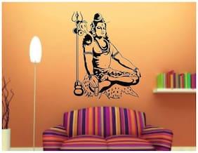 Daily Creation Shiva Religious abm13 Pooja Rooms,Yoga Rooms Wall Sticker Vinyl(Black)