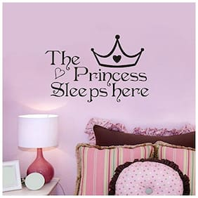Daily Creation the Princess Sleeps Here Wall Sticker Home Decoration(Black)