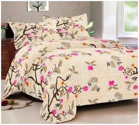 Daksh Presents 180Tc 100% Cotton Bedsheet For Single Bed With Border Design Pillow Covers